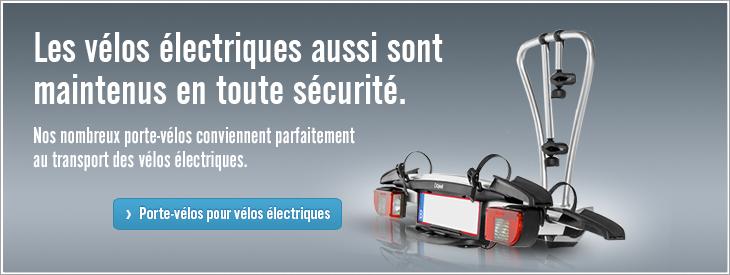 Les vélos électriques aussi sont maintenus en toute sécurité.