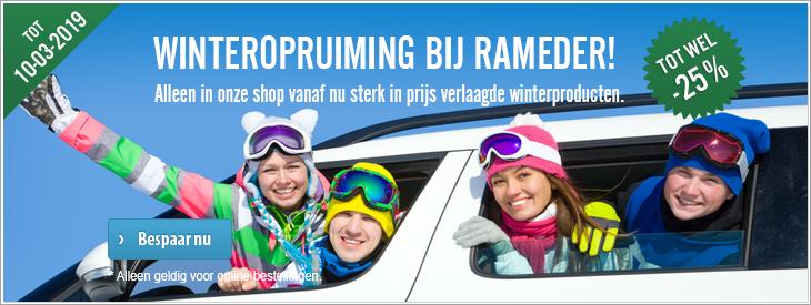Winteropruiming bij Rameder!  Alleen in onze shop vanaf nu sterk in prijs verlaagde winterproducten.