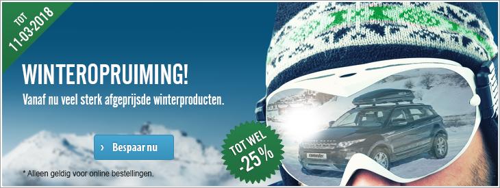 Winteropruiming! Vanaf nu veel sterk afgeprijsde winterproducten.